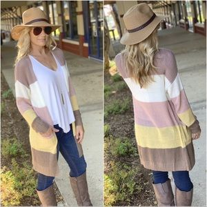 ✨RESTOCKED✨Colorblock knit cardigan with pockets